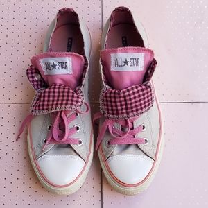 Converse Grey/Pink All Star Chuck Taylor Sneakers